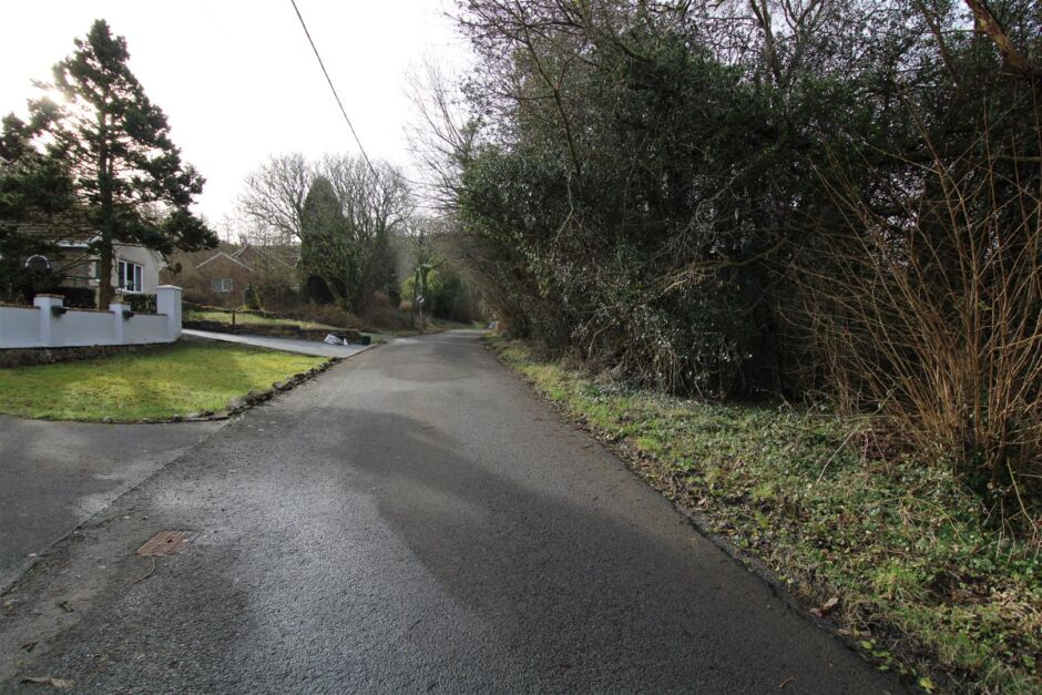 View looking to the top of the road